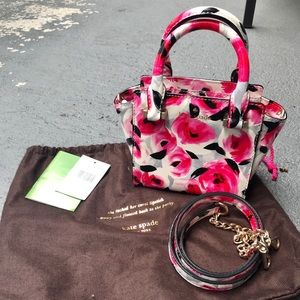 Kate Spade Pink Rose Mini Hayden crossbody bag